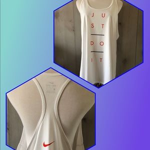 "nwot NIKE thin ""Just Do It"" RACERBACK TANK TOP"